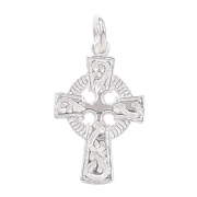 Sterling Silver Extra Small Celtic Cross Pendant charm